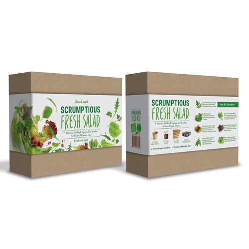 Scrumptious Fresh Salad Wrap Box