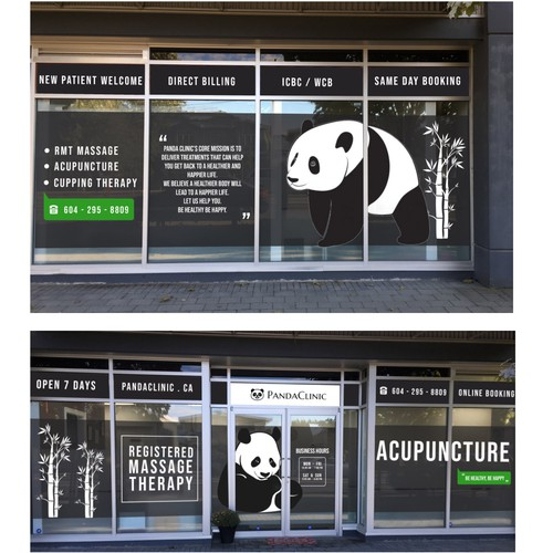 Design Windows decals for PandaClinic