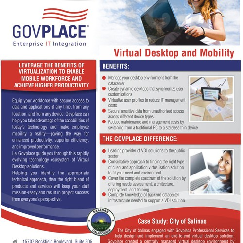 postcard or flyer for Govplace