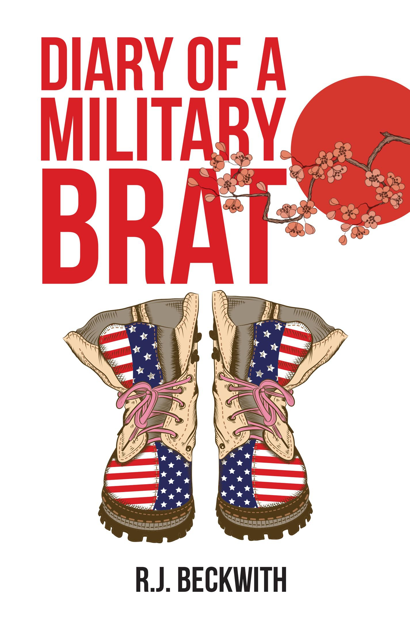 """Create a book cover for """"Diary of a Military Brat"""""""