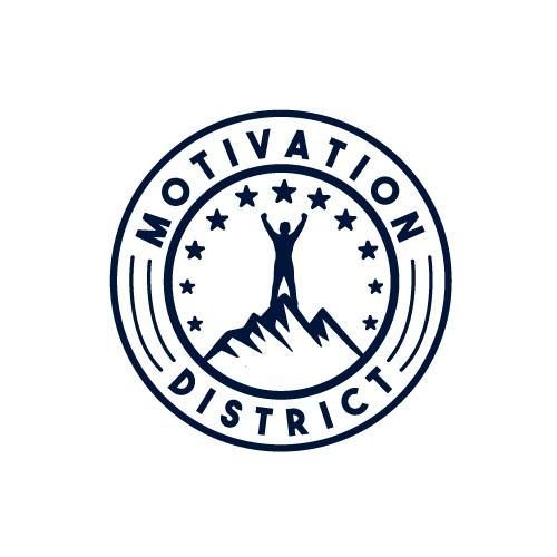 a modern logo for a motivation multimedia company