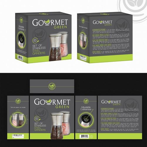 Gourmet Green- box design