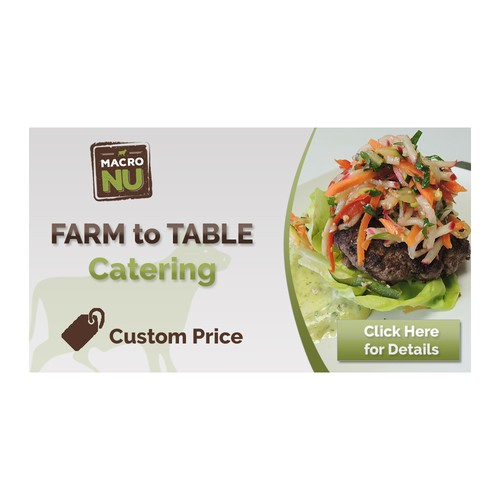 Farm to Table catering slider banner for Shopify store