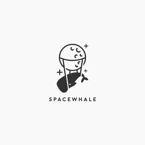 space whale logo