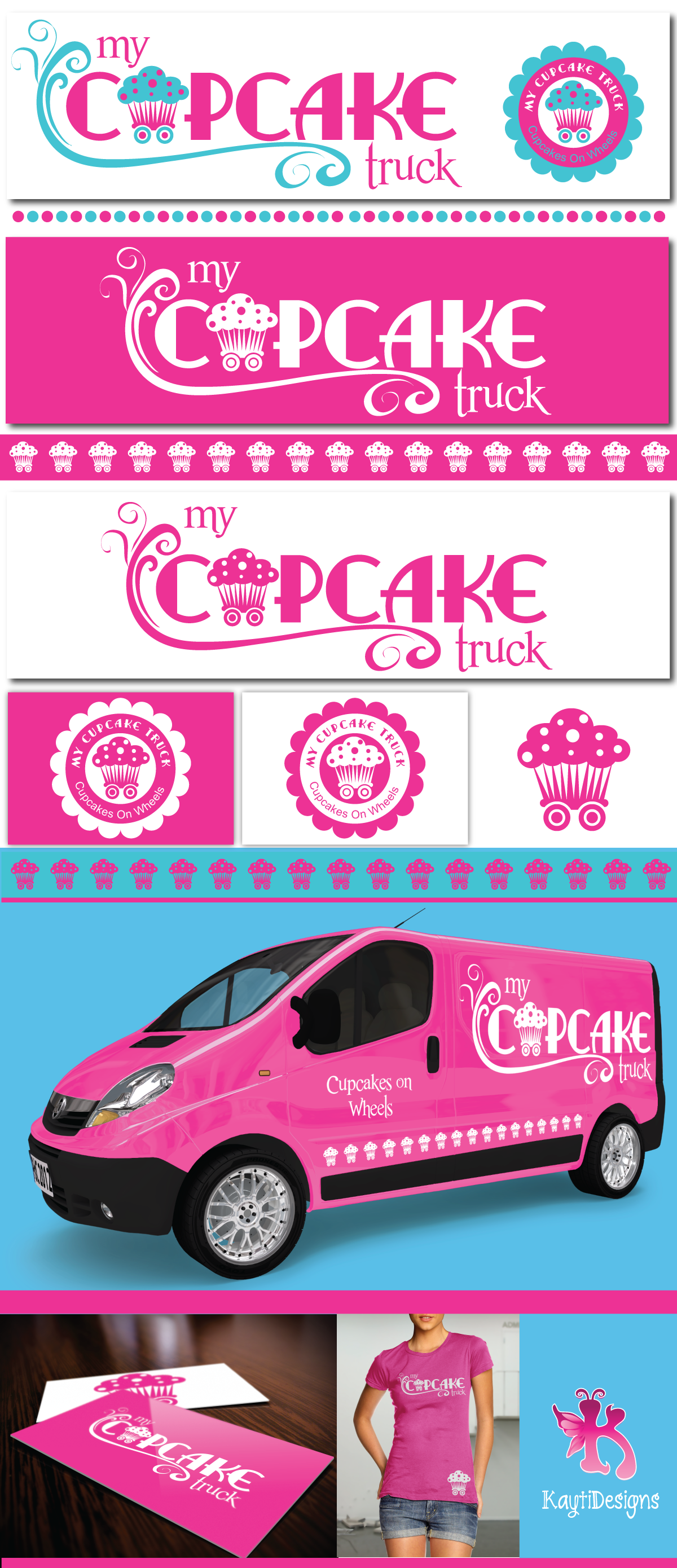 Create the next logo for My Cupcake Truck