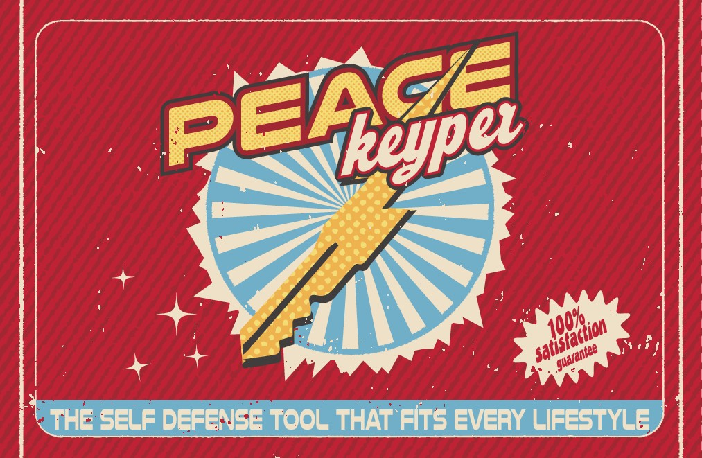 50's Vintage Comic styled packaging for self defense aid
