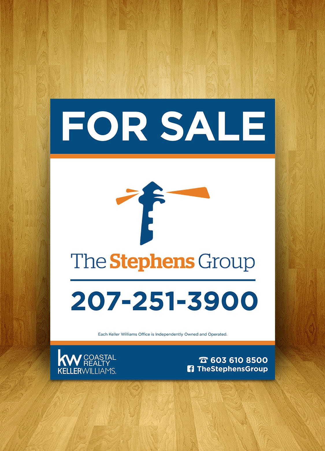 Design a real estate sign for The Stephens Group