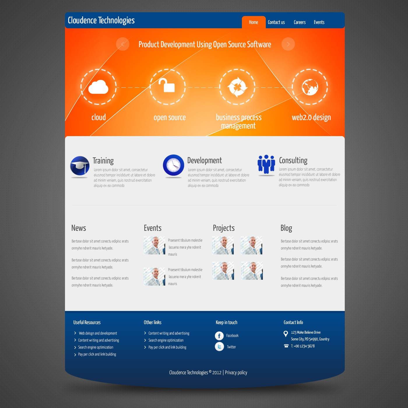 Help cloudence technologies Inc (www.cloudencetech.com) with a new website design