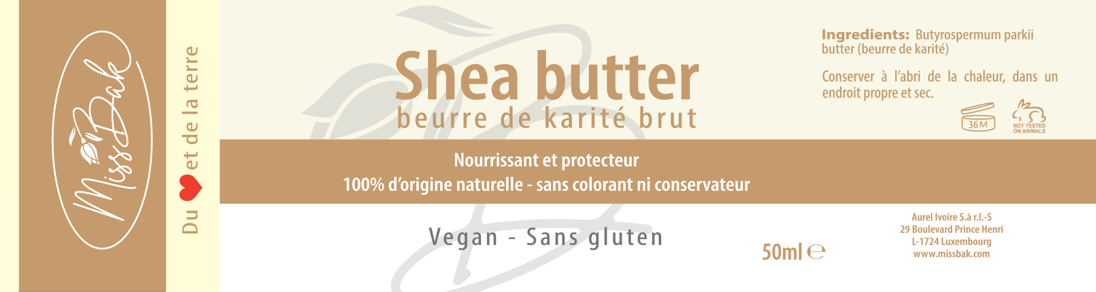 Packaging  for natural and ethical cosmetics products