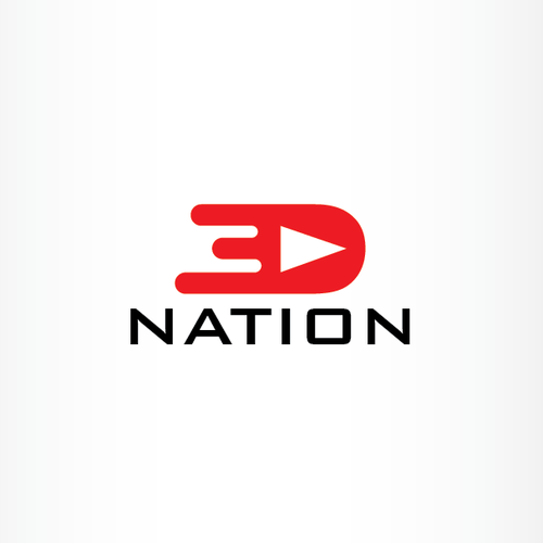 3D Nation-concept logo