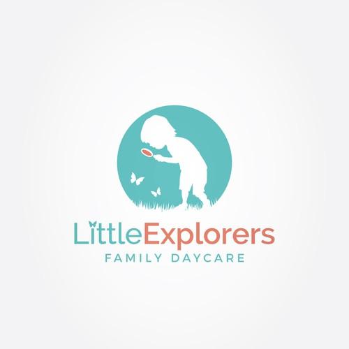 Adventurous child logo for daycare