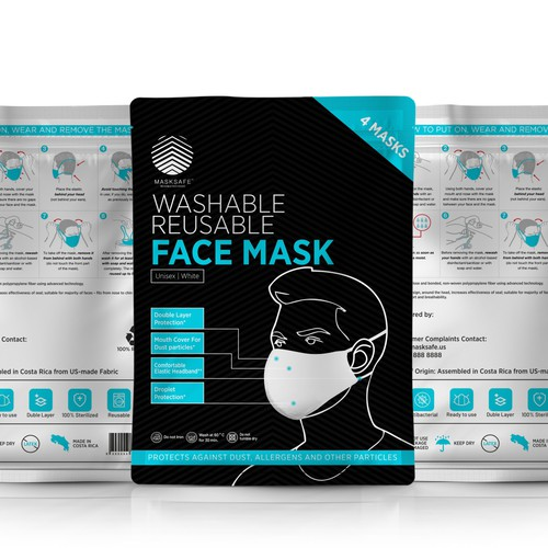 Label for Face Mask Packaging