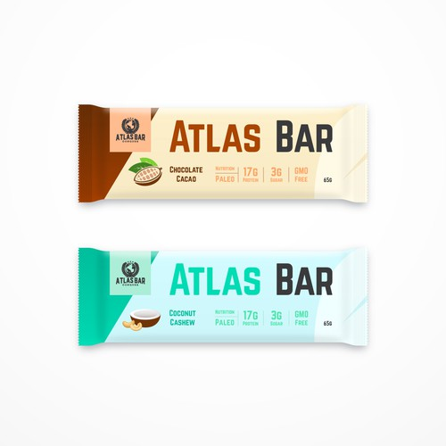 Clean protein bar packages