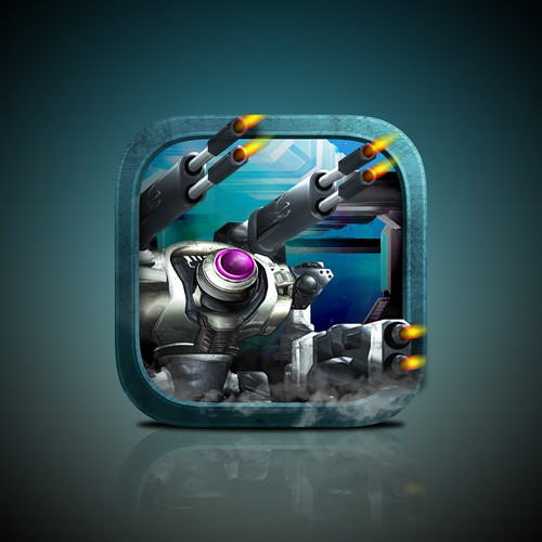 Mech game icon design