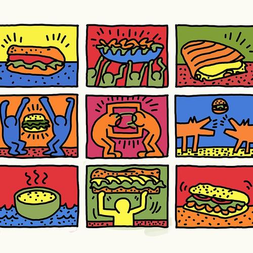 Keith Haring Quiznos