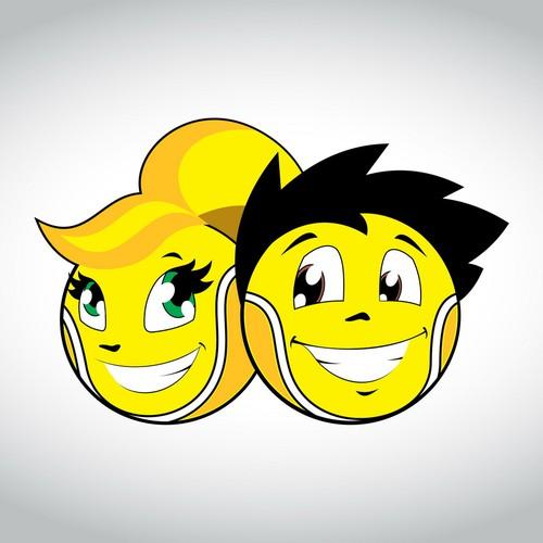 Tennis balls mascots