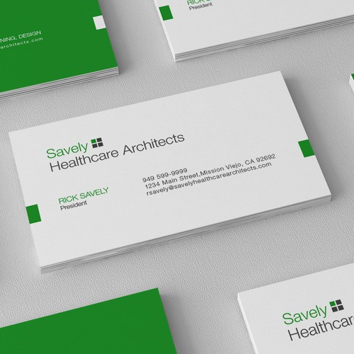 Clean, modern and simple logo and business card design