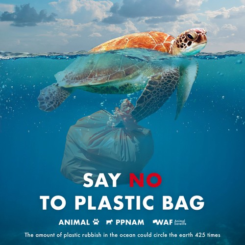 Facebook ad campaign to discourage using plastic bags