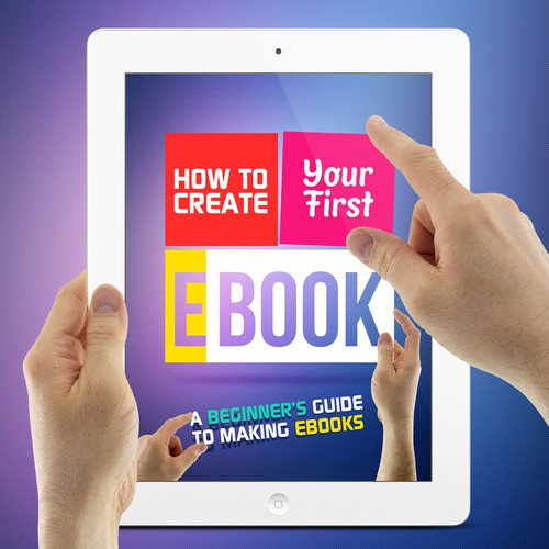 Create an eye catching cover for a book series on making ebooks
