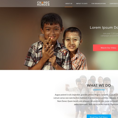 web page for charity organization
