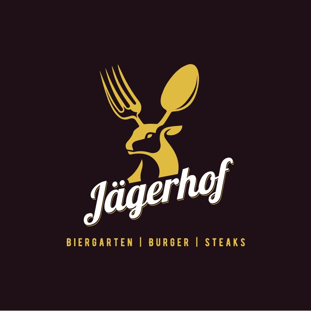 Modernes Logo for Event-Location mit Biergarten und American Restaurant