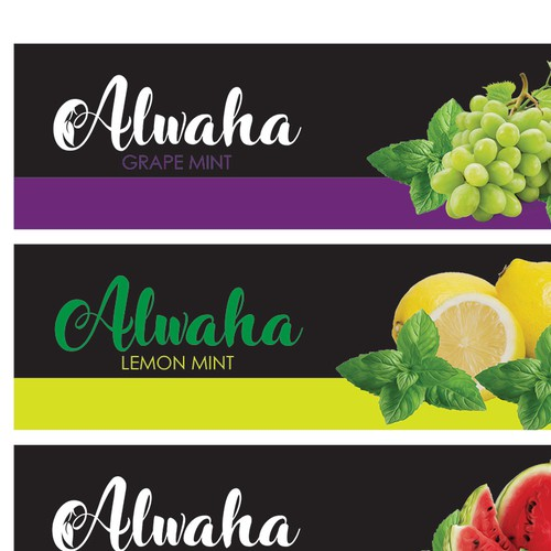 Design Product Label for Alwaha Juice brand.