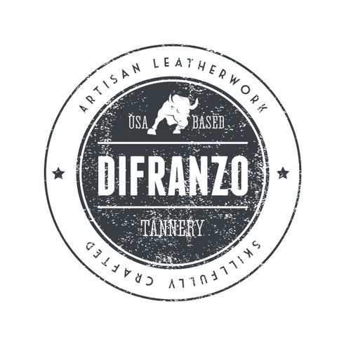 Create a classy - artisanal - rugged -badge style- logo design forDiFranzo Leather, an Italian artisan leather company
