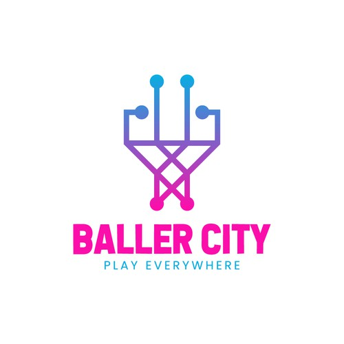 Minimalist Basketball Logo Concept