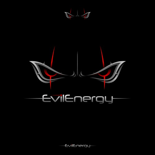 evil energy logo concept