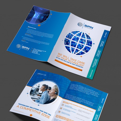 Create a fun, dynamic tabbed brochure! Help us make an amazing first impression! $269