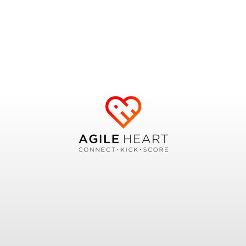 Agile Heart Logo Design