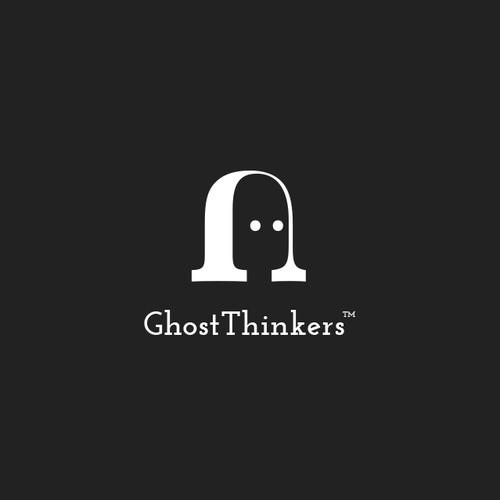 Negative space letter logo
