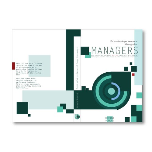 Book cover concept for management