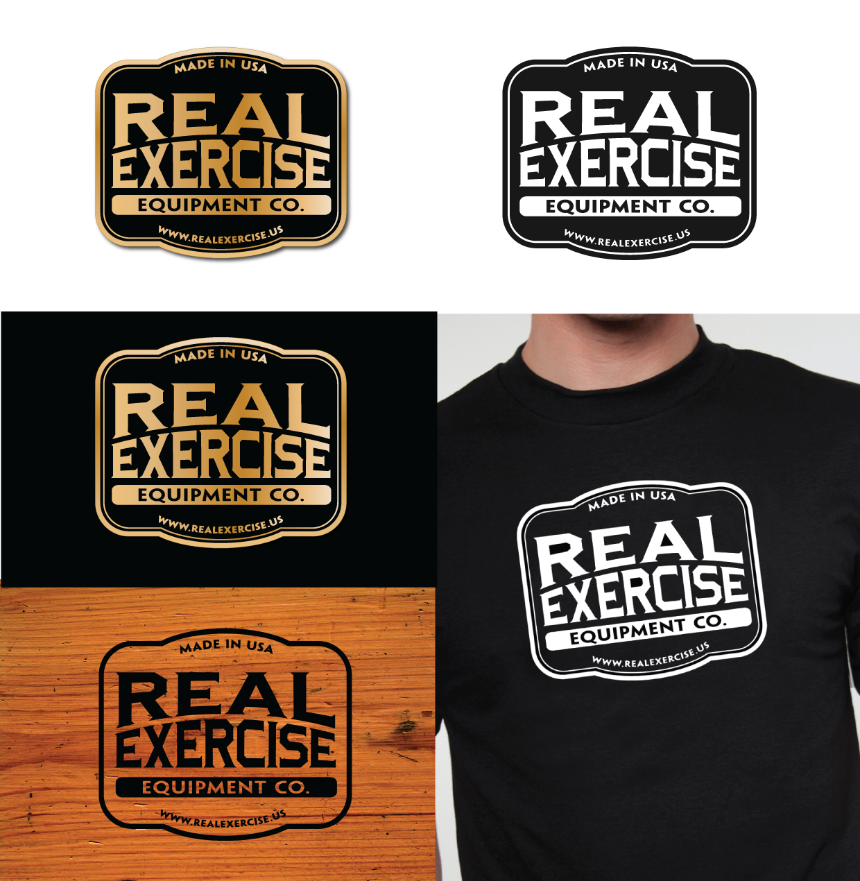 Help Real Exercise Equipment Company with a new logo