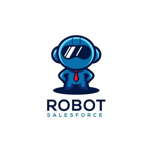 Robot Salesforce Logo