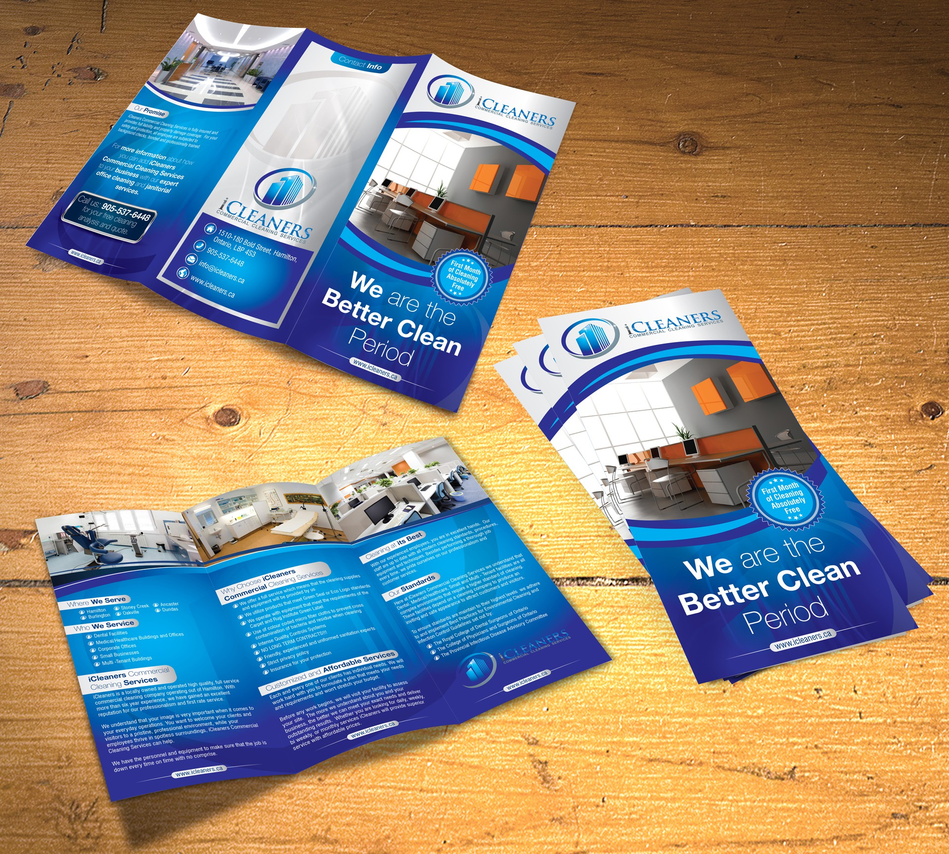 New brochure design wanted for iCleaners Commercial Cleaning Services