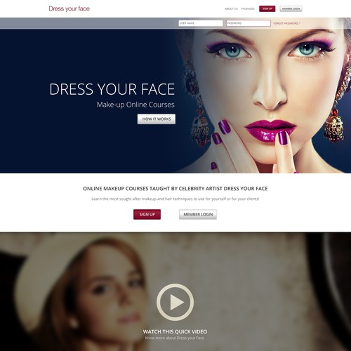 Dress Your Face - Landing Page Redesign