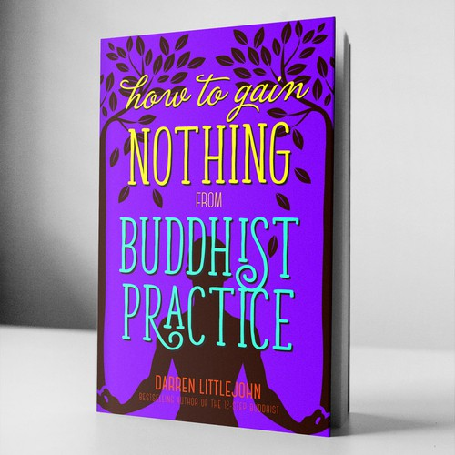 Vibrant cover for Buddhist book