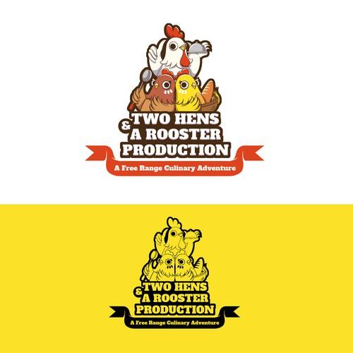 Cartoon logo design for a culinary group