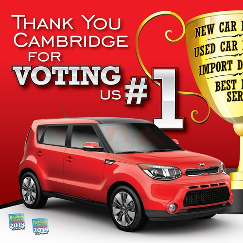Cambridge Kia signage