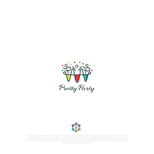 Playfull logo for Pretty Party