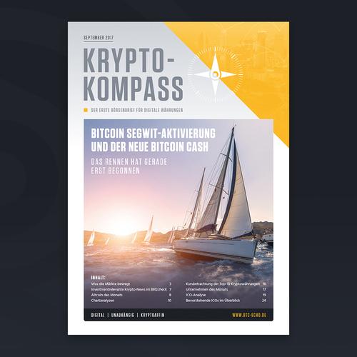 Major Redesign of Cryptocurrency Digital Newsletter (German)