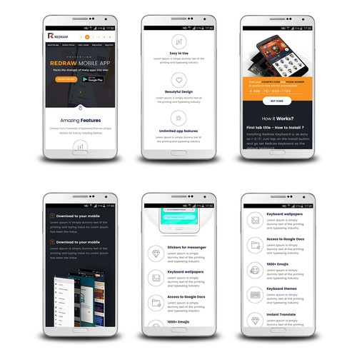 Responsive website redesign