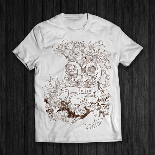 T shirt design for 99 coffee cafe