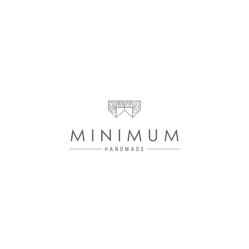 clean and modern logo for MINIMUM Handmade