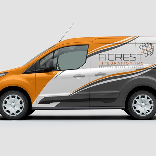 Ford transit wrap for Ficrest