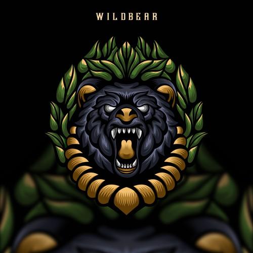 angry bear artwork illustration