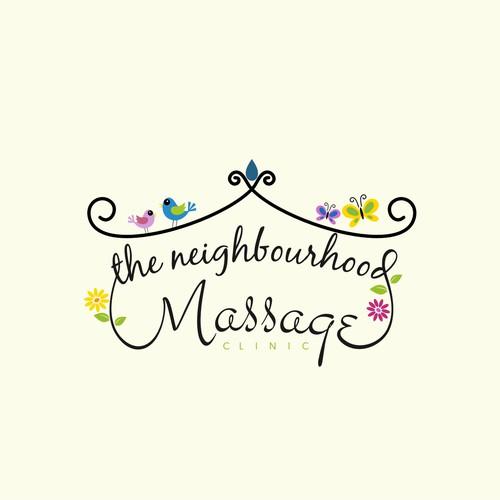 Warm, Welcoming, and Professional Logo for Neighbourhood MassageClinic