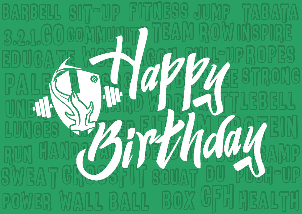 Birthday postcards for CrossFit Hermitage