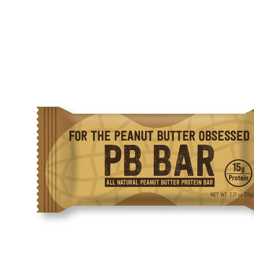 Peanut butter protein bar package design